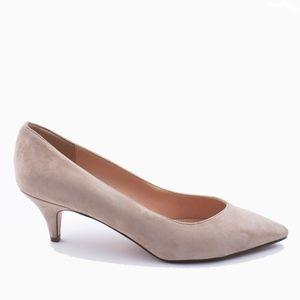 New JCREW Dulci V-cut kitten heels Subtle Pink